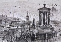 Calton Hill, Edinburgh by Tim Steward -  sized 39x28 inches. Available from Whitewall Galleries